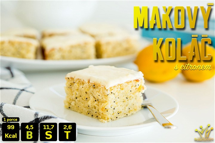 Fresh poppy seed cake with lemon