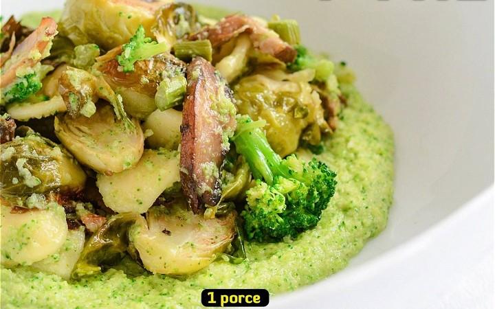 Brokolicové pyré se zeleninou