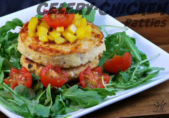 Celery-chicken patties