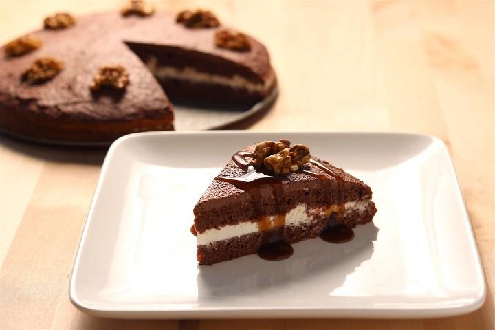 Čokoládovo-oříškový koláč