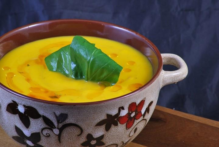 Krémová polévka z hokkaida