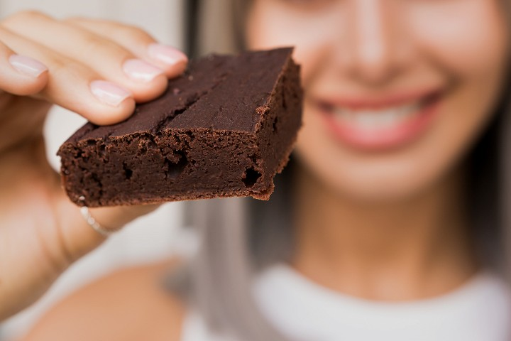 Flourless Red Bean Brownies